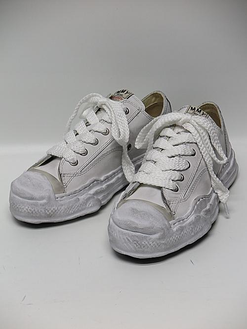 MIHARA YASUHIRO・ミハラヤスヒロ/HANK LOW/ original distressed effect sole leather Low-Top sneaker/WHT