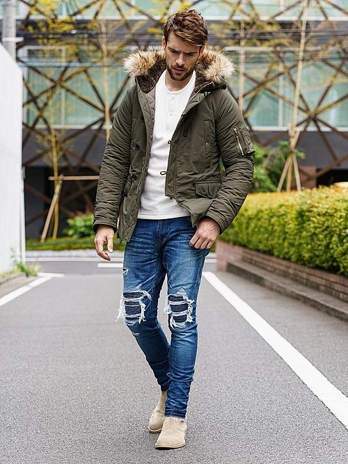 (予約品)11月入荷予定/wjk・ダブルジェイケイ/CORDURA® N-3B/real fur/KHA