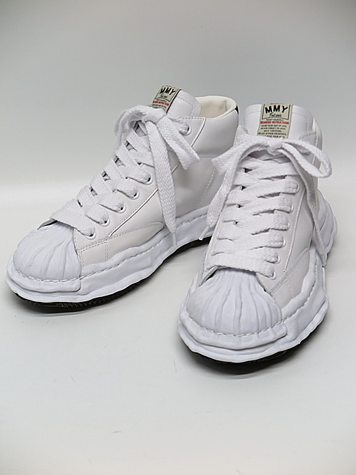 MIHARA YASUHIRO・ミハラヤスヒロ/ BLAKEY high - original STC sole leather hi-top sn/WHT