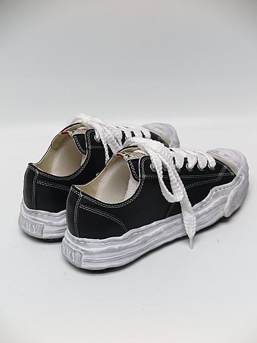 MIHARA YASUHIRO・ミハラヤスヒロ/HANK LOW/ original distressed effect sole leather Low-Top sneaker/BLK