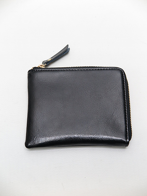 Ground Y・グラウンドワイ・Cow leather L shaped wallet/ブラック.