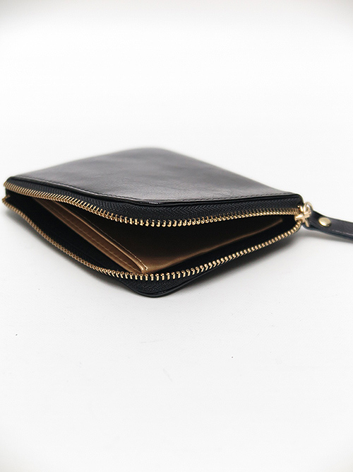 Ground Y・グラウンドワイ・Cow leather L shaped wallet/ブラック