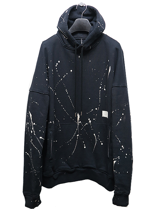 RESOUND CLOTHING・リサウンドクロージング Processing loose hoodie/BKBLEACH