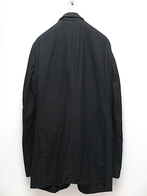 nude:masahiko maruyama・ヌード:マサヒコマルヤマ/コットンラチネ製品染MULTI BUTTONS JACKET/BLACK
