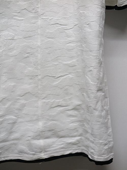 wjk・ダブルジェイケイ/layered T(jacquard CAMO)/white×black