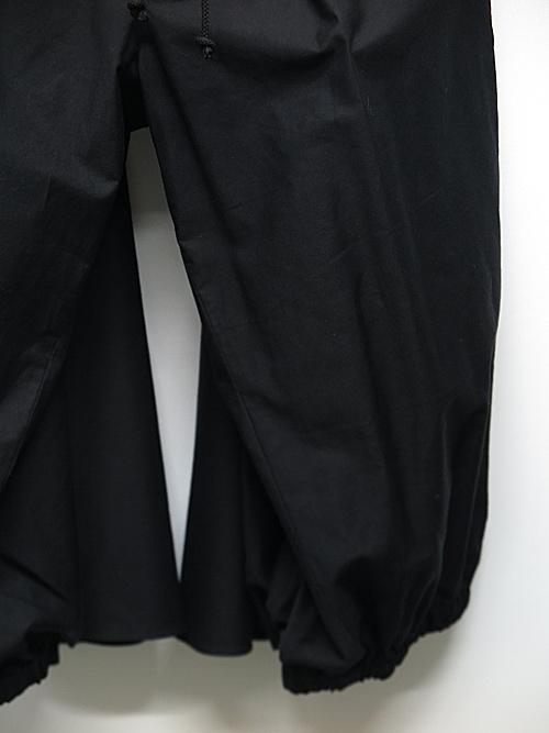 Yohji Yamamoto・ヨウジヤマモト/BKツイルI-カラスパンツ/ブラック
