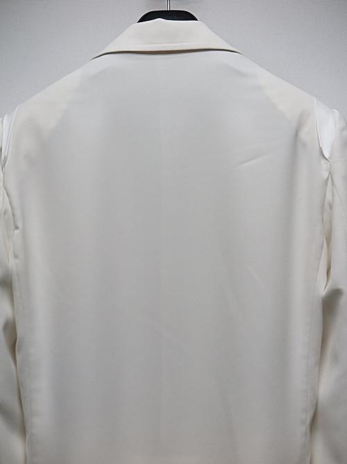 (予約品)6月入荷予定/kiryuyrik・キリュウキリュウ/PeSuede Layered Jacket/White
