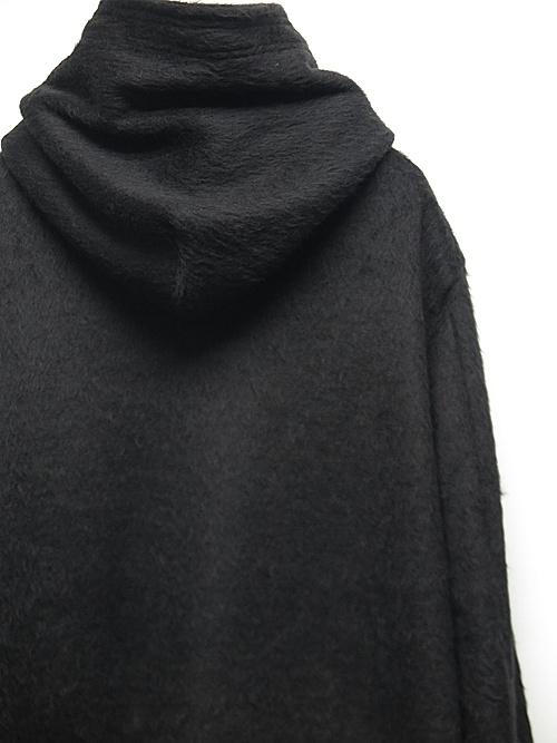 (予約品)10月入荷予定/kiryuyrik・キリュウキリュウ/Beaver Jersey Loose Hoodie/Black