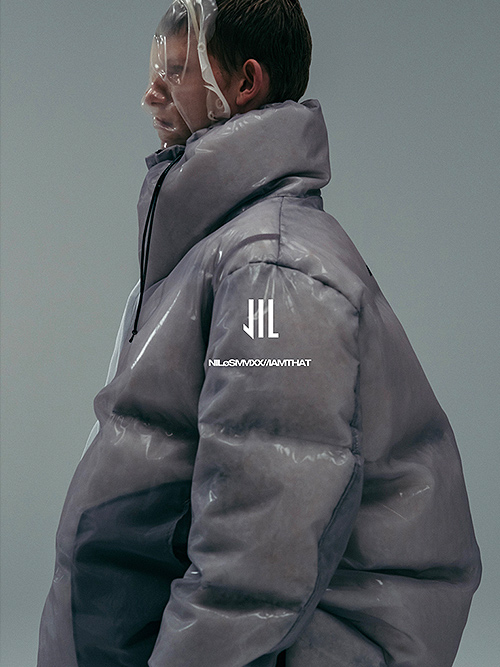 SALE40%OFF/NIL/S・ニルズ/NYLON MESH TRANSPARENT DOWN COAT/LIGHT