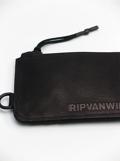 RIPVANWINKLE・リップヴァンウィンクル/CALF OIL WAX × ヘビーツイル MULTI CASE/ブラック