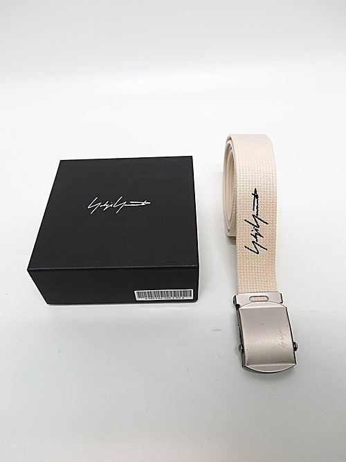 Yohji Yamamoto・ヨウジヤマモト/アクリルテープ30MMフリーベルト/アイボリー