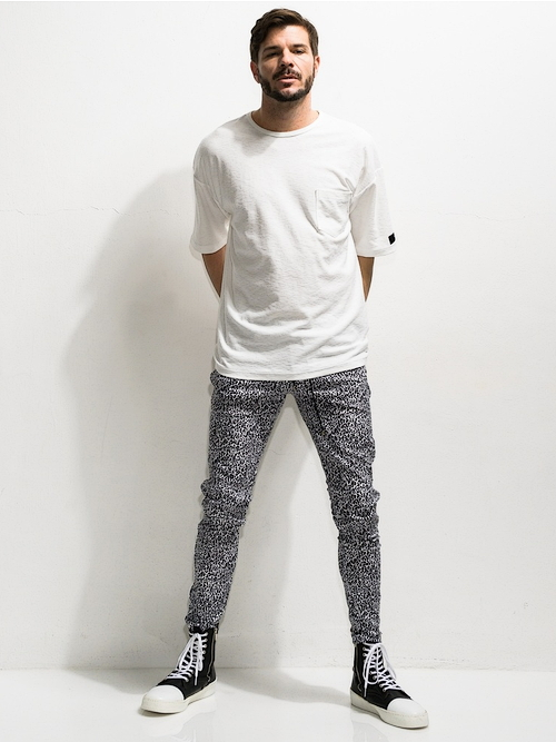 RESOUND CLOTHING・リサウンドクロージング/super tight taperd Blind LINE PT/SNOWLEOPARD