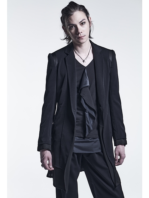 (予約品)6月入荷予定/kiryuyrik・キリュウキリュウ/PeSuede Layered Jacket/Black