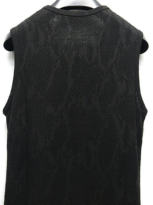 kiryuyrik・キリュウキリュウ/Pythone JQD Jersey Vneck Tunk Top/BLACK