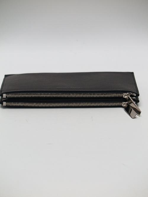 PATRICK STEPHAN(パトリックステファン)/COW HIDE Leather long wallet 'flat'/SBLK.