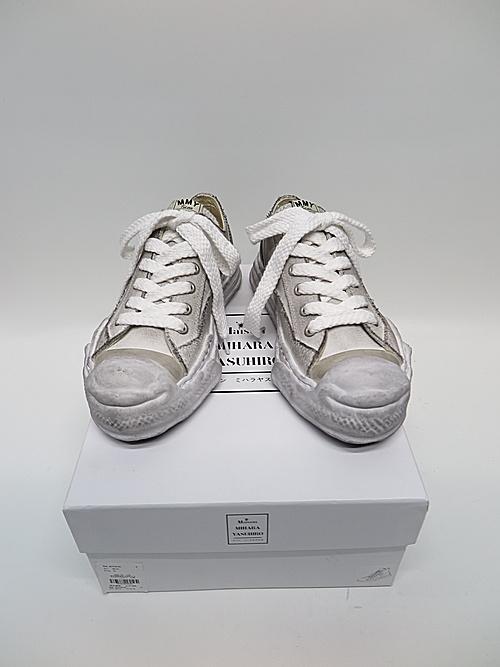 MIHARA YASUHIRO・ミハラヤスヒロ/HANK LOW/ original distressed effect sole canvas Low-Top sneaker/WHT