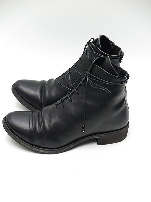 D.HYGEN・ディーハイゲン/ホースレザーレースアップブーツ/BLACK
