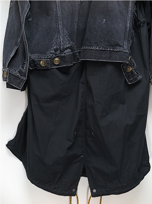 MIHARAYASUHIRO・ミハラヤスヒロ/13oz Broken Denim Layer M51/BLK.