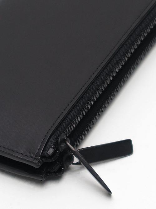 PATRICK STEPHAN(パトリックステファン)/COW HIDE Leather long wallet 'flat'/BBLK.