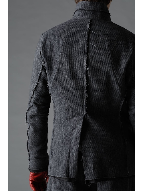 D.HYGEN・ディーハイゲン/ミニマルドビーストライプJKT/BLACK