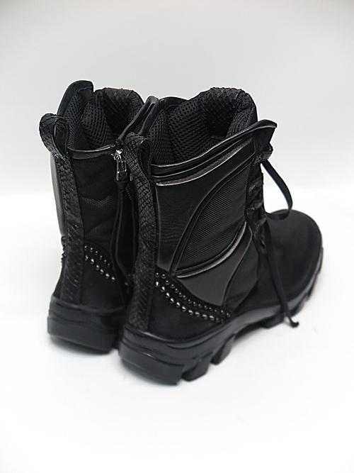 KMRii・ケムリ/1801-BO08 Black Metal Sneaker 03/BLACK