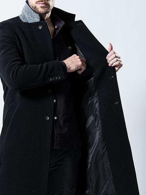 (予約品)10月入荷予定/wjk・ダブルジェイケイ/chesterfield coat/BLK