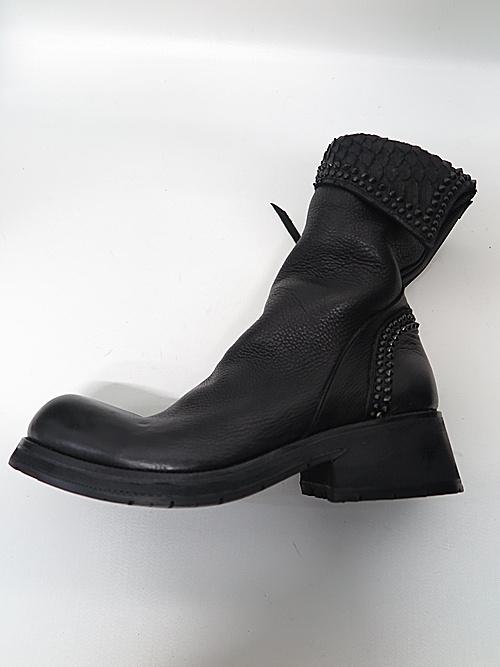 KMRii・ケムリ/1602-BO03 Crush Short Boots/BLACK