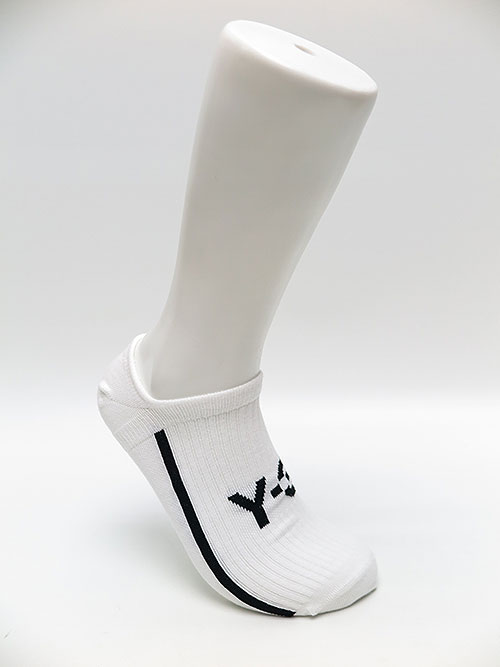 Y-3・ワイスリー・Y-3 INVISIBLE SOCK・ホワイトブラック.
