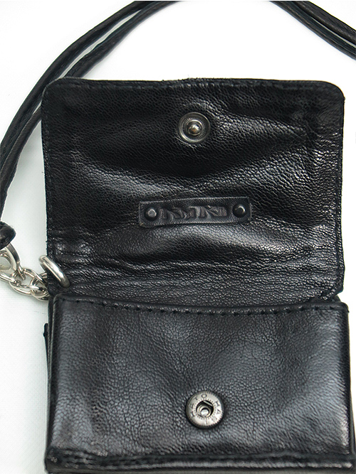 KMRii・ケムリ/Goat Skin Leather WS- Domino Wallet/BLACK.