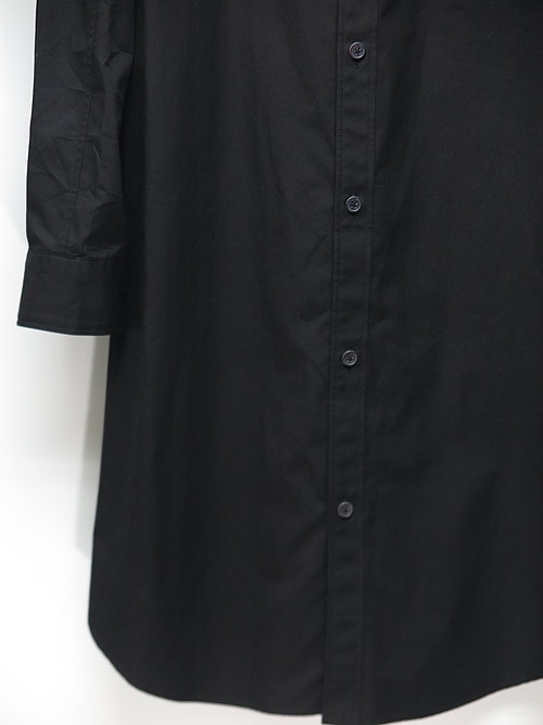 Ground Y・グラウンドワイ/Cotton Broad Asymmetry switchin Shirts/BLACK