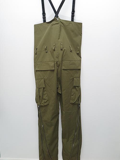 SALE40%OFF/nude:masahiko maruyama・ヌード:マサヒコマルヤマ/綿ナイロンオックスフォードHIGH WAIST PANTS W/LEATHER SUSPENDER/KHAKI
