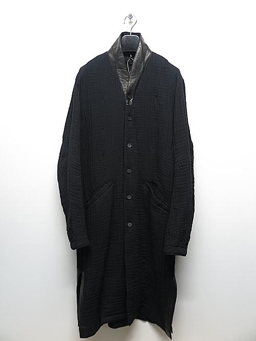 D.HYGEN・ディーハイゲン/4層コットンガーゼロングシャツ/BLACK