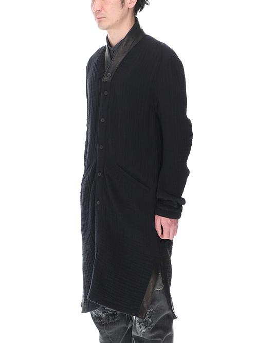 (予約品)9月入荷予定/D.HYGEN・ディーハイゲン/4層コットンガーゼロングシャツ/BLACK