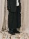 (予約品)2〜3月入荷/nude:masahiko maruyama ・ヌード:マサヒコマルヤマ/GARMENT DYED SUPER WIDE LEG PANTS/Black