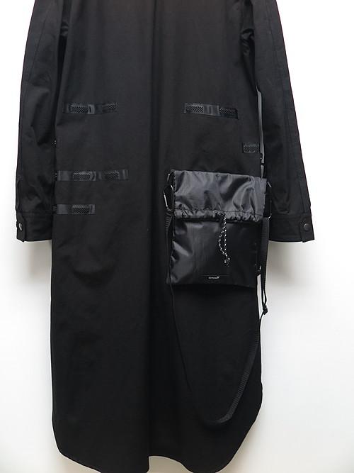 Ground Y・グラウンドワイ/Cotton canvas Zipper long tape Shirts/BLACK