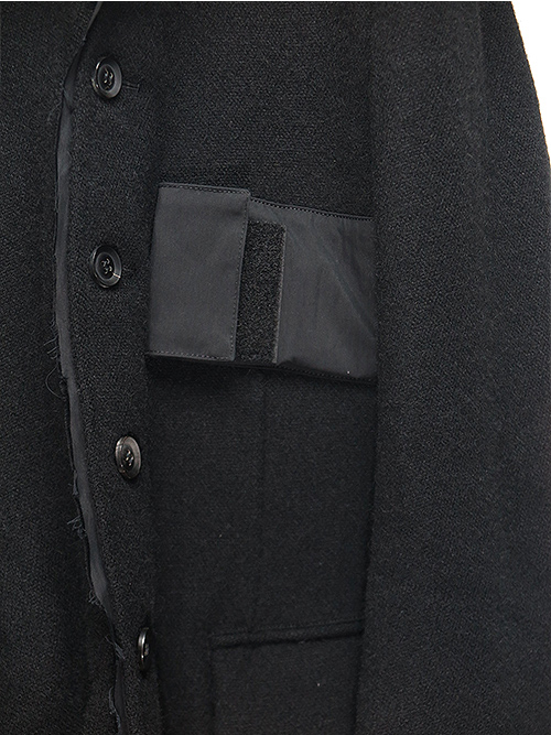 SALE40%OFF/nude:masahiko maruyama・ヌード:マサヒコマルヤマ/英国羊毛ツイードJACKET/BLACK