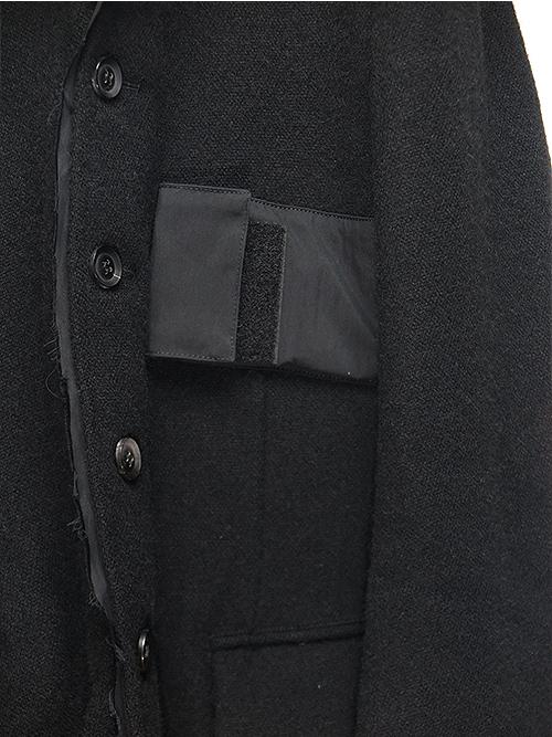 nude:masahiko maruyama・ヌード:マサヒコマルヤマ/英国羊毛ツイードJACKET/BLACK.