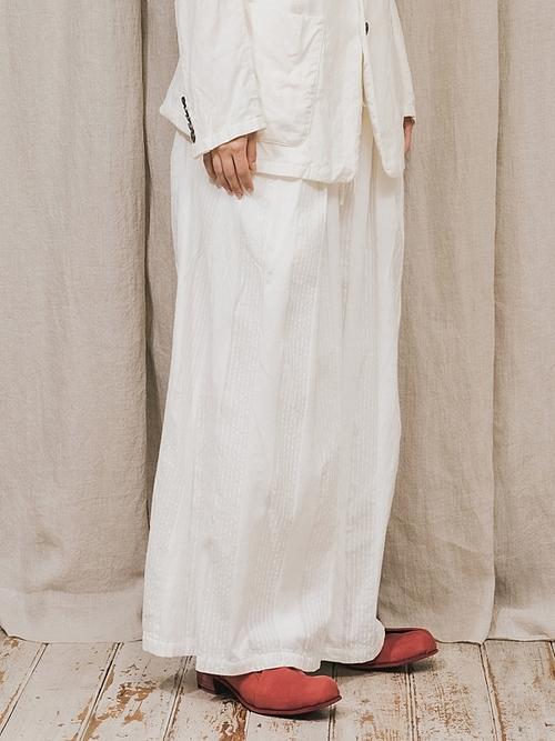 (予約品)2〜3月入荷/nude:masahiko maruyama ・ヌード:マサヒコマルヤマ/GARMENT DYED SUPER WIDE LEG PANTS/Off White