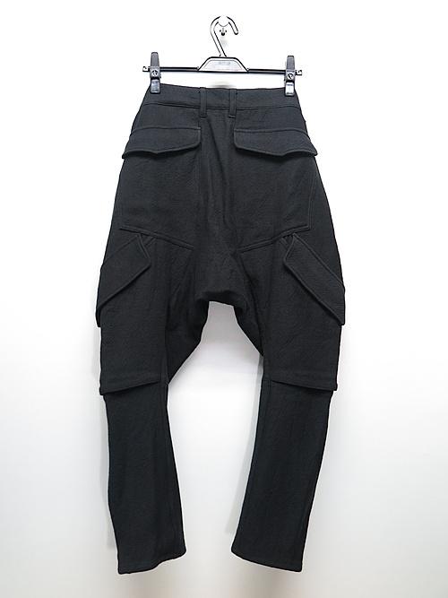 D.HYGEN・ディーハイゲン/甘織デニムマルチポケットカーゴクロップドパンツ/BLACK.
