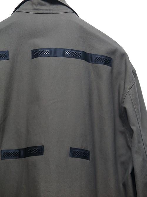 Ground Y・グラウンドワイ/Cotton canvas Open collar pocket Jacket/KHAKI.