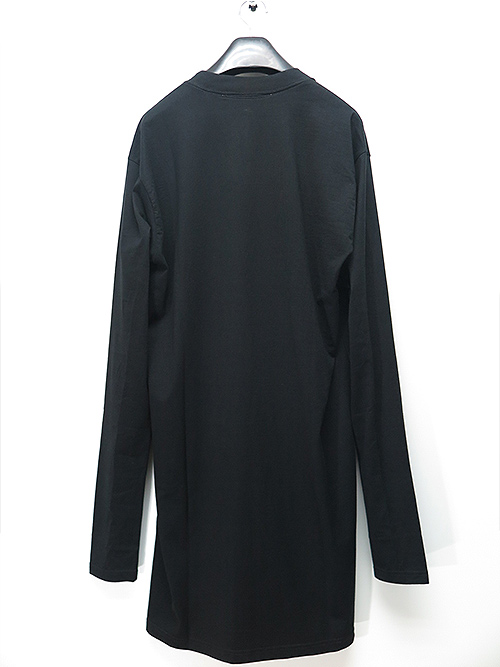 nude:masahiko maruyama・ヌード:マサヒコマルヤマ/ハードバイオ天竺OVER SIZE EAGLE PRINT LONG SLEEVE T/BLACK