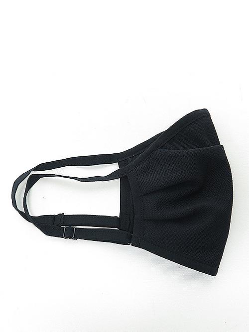 wjk・ダブルジェイケイ/adjustable mask cover/black