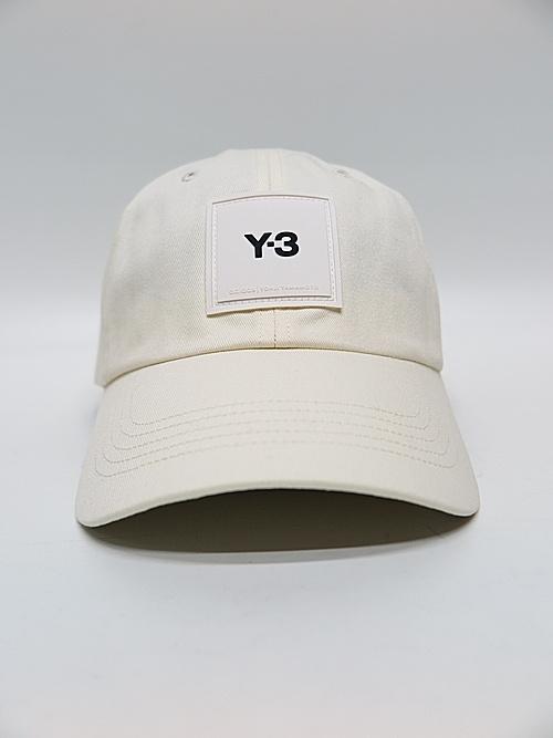 Y-3・ワイスリー/Y-3 SQUARE LABEL CAP/CREAM WHITE.