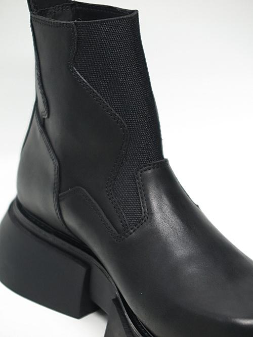 JULIUS・ユリウス/COW SKIN FOOT WEAR FOR MALE/BLACK