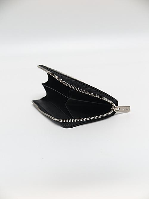 Yohji Yamamoto・ヨウジヤマモト/厚口素上げ コインカードケース/ブラック