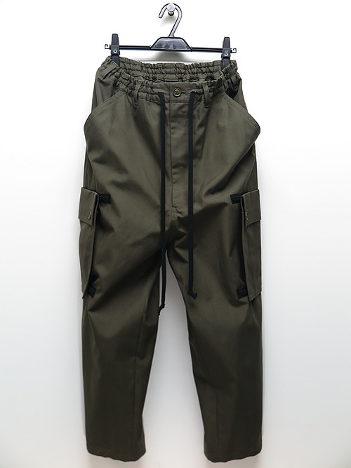 Ground Y・グラウンドワイ/Cotton canvas Back tape army Pants/KHAKI