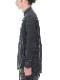 (予約品)7月入荷予定/D.HYGEN・ディーハイゲン/ウール×コットンディンプルワッシャーバンドカラーシャツ/CHARCOAL