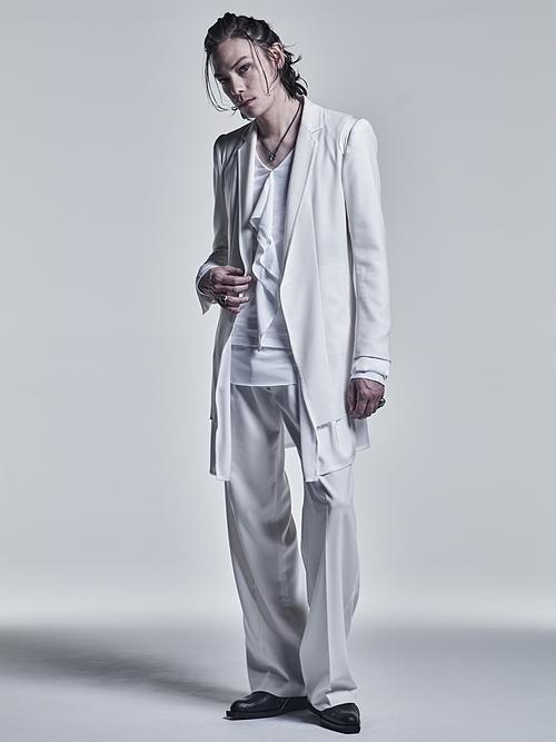 kiryuyrik・キリュウキリュウ/Jersey Layered Frill T-Shirts/White&White