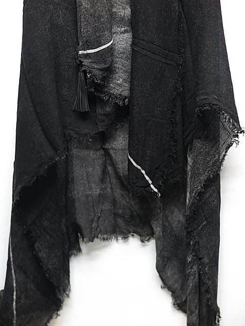 KMRii・ケムリ・Powder Storm Square Stole 02-BLK