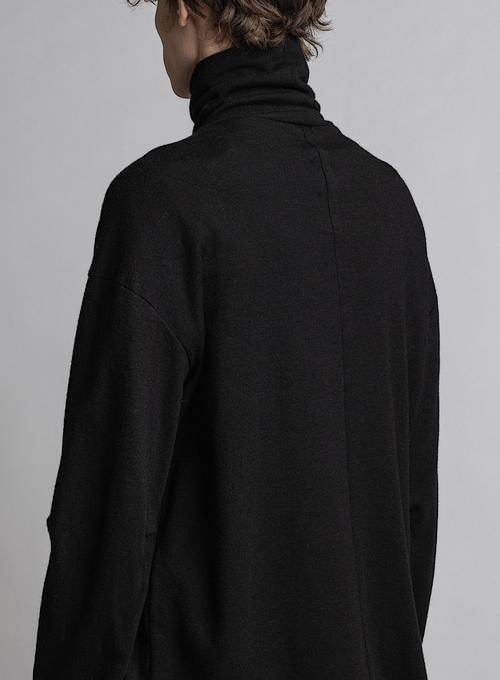 The Viridi-anne・ザ ヴィリディアン/ウールスムース タートルネック/BLACK